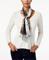 Vince Camuto I Heart Paris Silk Square Scarf