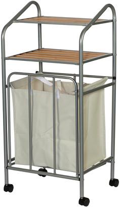Creative Bath Double Shelf Storage With Wheels