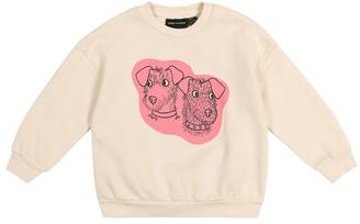 Mini Rodini Terrier cotton jersey sweatshirt