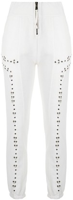 Andrea Bogosian Contrast Panel Ring Detail Cropped Trousers