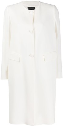 Emporio Armani Single-Breasted Collarless Coat