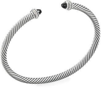 David Yurman Cable Bracelet w/ Diamonds & Gemstones, Size S-L