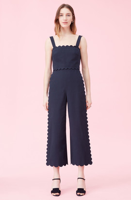 Rebecca Taylor Scalloped Suiting Jumpsuit