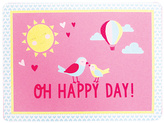 Carter's Pink Birds 'Oh Happy Day!' Place Mat