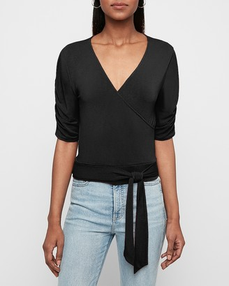 Express Sash Tie Wrap Front Top