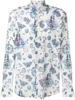 Etro snake butterfly print shirt