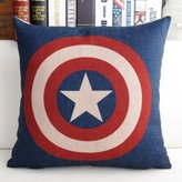 Iron Man Mary's Home Superman Batman Green Lantern Captain America, Iron Man, the Flash Cotton & Linen Pillowcase Decorative Throw Pillow Cover (Captain America)