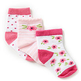 Starting Out 3-Pack Floral Crew Socks