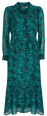 Mint Velvet Ali Snake Midi Shirt Dress