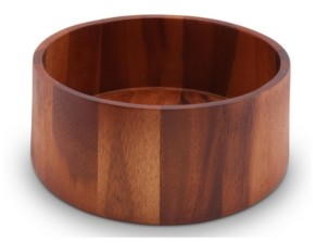Arthur Court Acacia Wood Serving Bowl for Fruits or Salads Tulip Shape Style Large Wooden Single Bowl