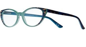 Foster Grant Women's Modera by Diane Leopard Cat-Eye Reading Glasses