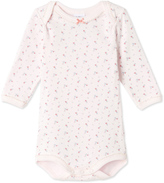 Petit Bateau Baby girls long-sleeved bodysuit in tube knit