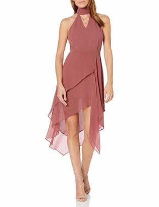 C/Meo Women's Love Burns Sleeveless Tie Neck Short Mini Party Dress