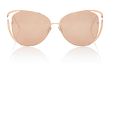 Linda Farrow Cat-Eye Metal Sunglasses