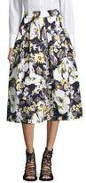 IMNYC Isaac Mizrahi Floral Midi Skirt