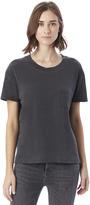 Alternative Brushed & Garment Dyed Boxy Crew Neck T-shirt