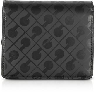 Gherardini Signature Black Leather Fabric Coin Purse