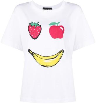 Boutique Moschino fruit face print cotton T-shirt