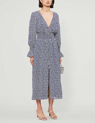 Reformation Fia floral-print woven midi dress