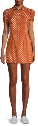 Onia Elle Polka Dot Puff-Sleeve Dress