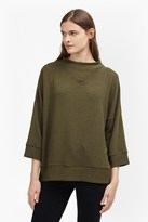 French Connection Sudan Marl Rib Oversized Top