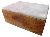 Threshold Decorative Box Wood White Square
