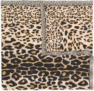 Escada animal print scarf