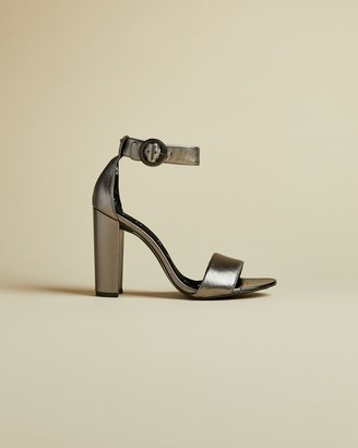 Ted Baker SECATAA Metallic leather heeled sandals