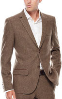 Asstd National Brand WD.NY Brown Twill Suit Jacket - Slim Fit
