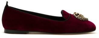 Dolce & Gabbana Devotion velvet ballerina shoes