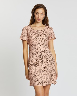 All About Eve Painted Dot Fit-and-Flare Dress