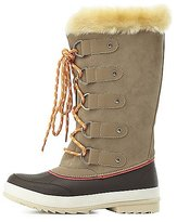 Charlotte Russe Faux Fur-Lined Duck Boots