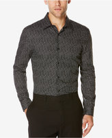 Perry Ellis Men's Confetti-Print Long-Sleeve Shirt