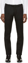 CNC Costume National Black Wool Ribbed Trousers