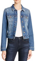 Mavi Jeans Samantha Denim Jacket in Shaded Ripped Vintage