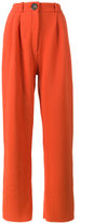 Awake high waisted wide-leg trousers - women - Nylon/Viscose/Virgin Wool - 42