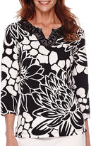 Alfred Dunner Sao Paolo 3/4-Sleeve Floral Print Top