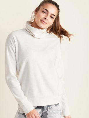 Old Navy Go-Warm Micro Performance Fleece Funnel-Neck Pullover for Women