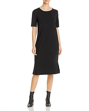 Eileen Fisher System Side-Slit Midi Dress