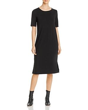 Eileen Fisher Side-Slit Midi Dress