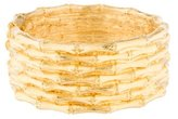 Kenneth Jay Lane Wide Bamboo Bangle Bracelet