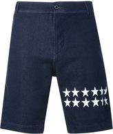 GUILD PRIME star print denim shorts - men - Cotton/Polyurethane - 2