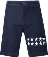 GUILD PRIME star print denim shorts
