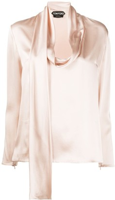 Tom Ford Scarf Neck Blouse