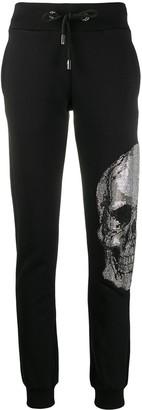Philipp Plein Rhinestone Skull Track Trousers