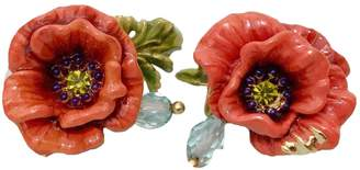 Les Nereides Red Gold plated Earrings