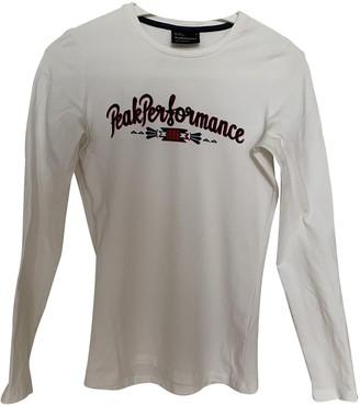 Peak Performance White Cotton Top for Women