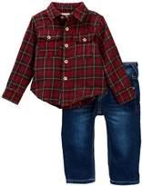True Religion TR Plaid Woven Shirt & Jeans Set (Baby Boys)