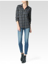 Paige Mya Shirt - Dark Slate Gibson Plaid