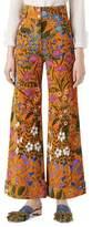 Gucci New Flora Print Corduroy Pants, Multicolor